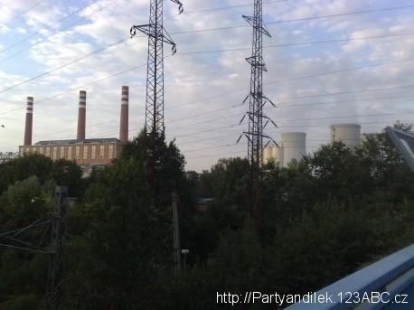 Fotka elektrárny v Ostravě - Třebovicích.