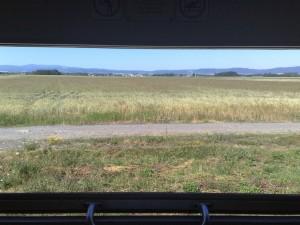 Fotka výhledu z okna.