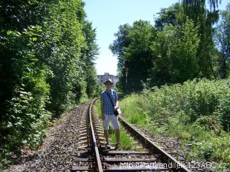 Fotka z kolejí mezi stanicemi Aš - město a Aš - předměstí.